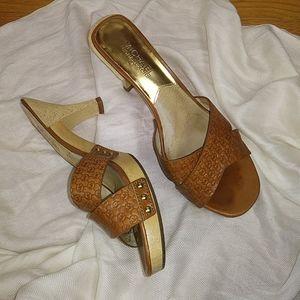 MK Michael Kors leather heel sandals